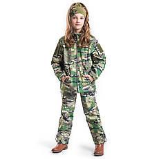 Военный детский костюм теплый Вулкан Soft-Shell камуфляж MTP, фото 3
