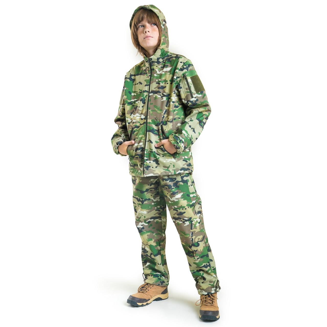 Военный детский костюм теплый Вулкан Soft-Shell камуфляж MTP