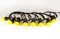 Резиновый шнур 50 м с патронами (2х 1,5 мм2)B22 garland 250 sockets-230V-50m