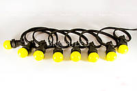 Резиновый шнур 100 м с патронами (2х 1,5 мм2)GUIRLANDE E27/3DM 1.5K -100 m