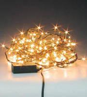 """Гирлянда """"Нить""""(String Light ) - 10м. 100Led тепло белый с мерцанием, ПВх кабель"""