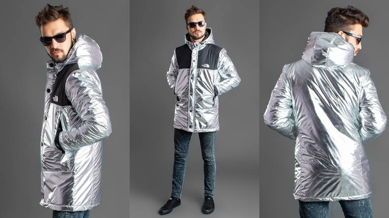 Стильная куртка мужская silver, фото 2