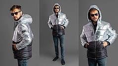 Мужская куртка комбинированная