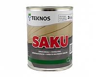 Краска щелочестойкая TEKNOS SAKU для цоколя и бетона 0,9 л