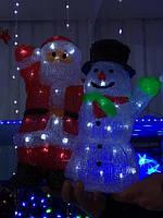 Светильник новогодний Снеговик и Дед Мороз 60 см