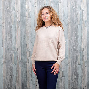 Женский ангоровый свитер. 4501-1. Размер 44-48.