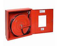 Пожарный кран-комплект Шкаф квартирный с полужестким рукавом Д.25 (длина 20 метров)
