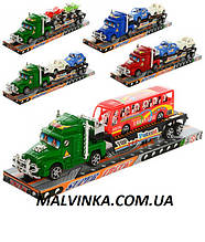 Трейлер 899-1-3-5 інер-й, 31 см, транспорт (машинка,автобус,мотоцикл), в слюді,33-7,5-9 см