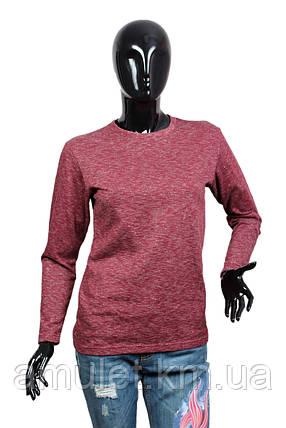 Світшот жіночий меланж-бордо, фото 2