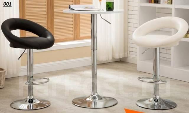 Барный стул черный и белый