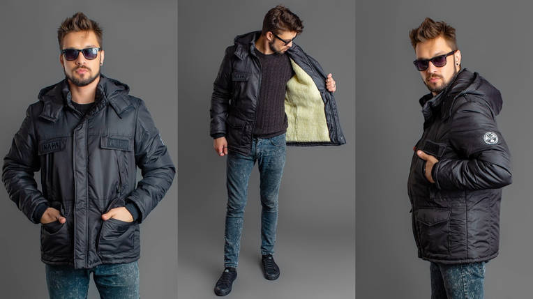 Мужская куртка на меховой подкладке, фото 2