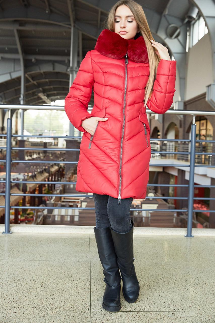 7b24dd15a Зимняя молодежная куртка красного цвета 42-56рр.: продажа, цена в ...