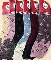 Носки женские термо, шерсть, ангора с махрой Диана размер 37-41, ассорти