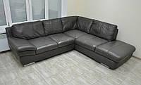 Кожаный уголок, угловой диван. Из Германии.