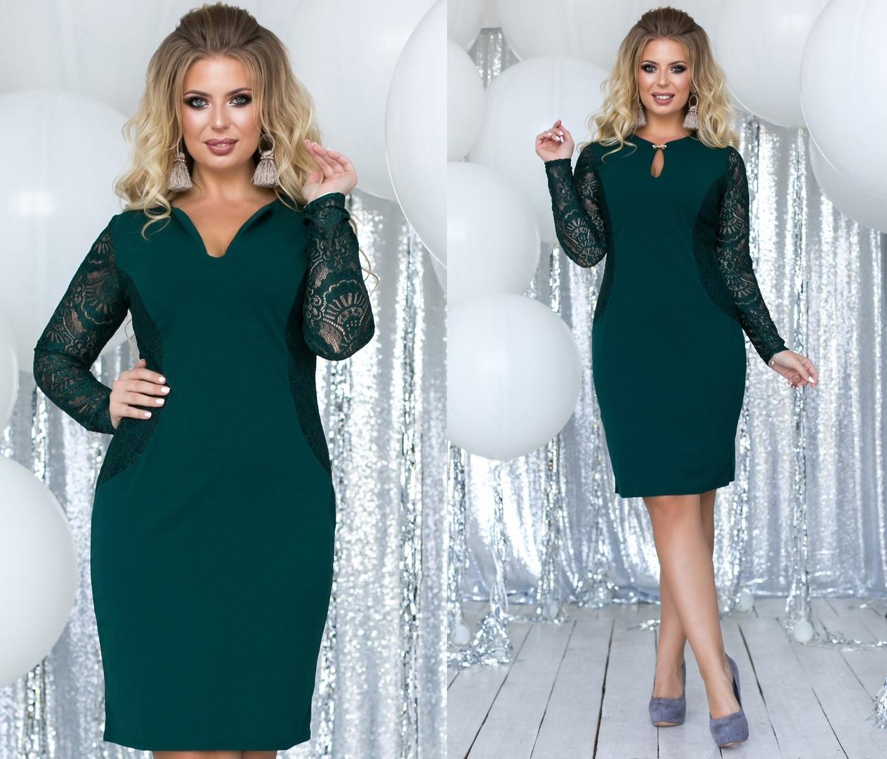 Элегантное женственное платье средней длины (5расцв) 48-54