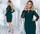 Элегантное женственное платье средней длины (5расцв) 48-54, фото 2