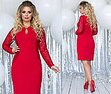 Элегантное женственное платье средней длины (5расцв) 48-54, фото 8