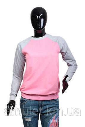 Свитшот женский розовый, фото 2