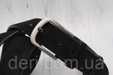 Ремень замшевый черный, фото 2
