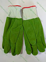 Перчатки маслостойкие зеленые.