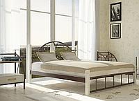 """Кровать металлическая на деревянных ногах """"Анжелика"""", фото 1"""