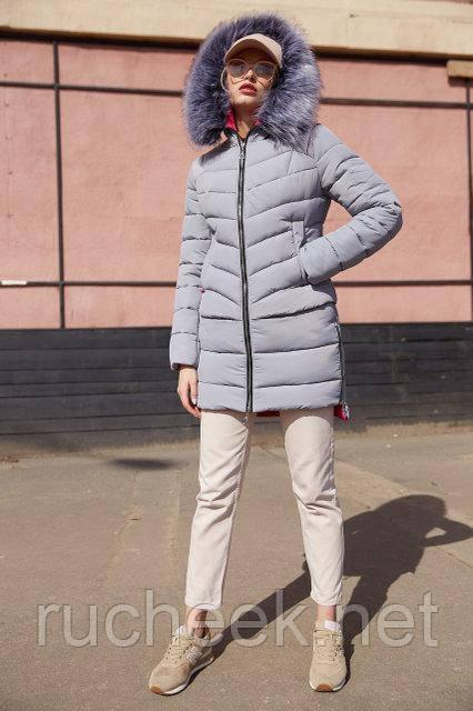 Женская зимняя куртка Лесли, р-ры 42 - 54, ТМ NUI VERY, Украина