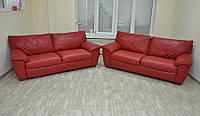 Кожаный гарнитур, диван. Из Германии.