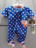 Слипер Флисовый Человечек  Пижама детская для Новорожденного