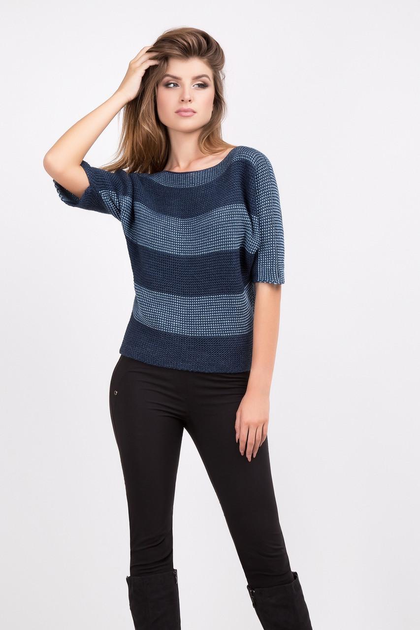 Элегантный женский свитер джемпер с укороченным рукавом