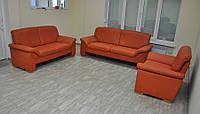 Кожаный гарнитур, диван, кресло. Из Германии.