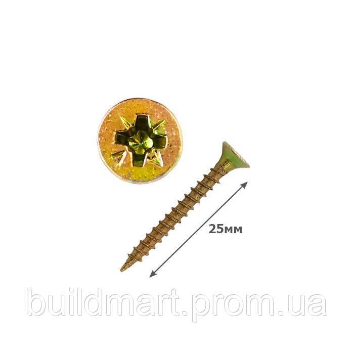 Шуруп универсальный желтый 2.5х25 (1000шт.)