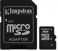 Карта пам'яті MicroSDHC 08Gb class 4 (SD адаптер) Kingston (SDC4/8GB) (SDC4/8GB)