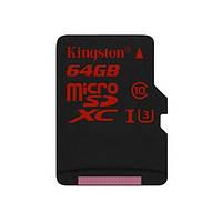 Карта памяті MicroSDHC 64 Gb class 10 Kingston UHS-I U3 (SDCA3/64GBSP), фото 1
