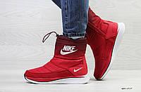 Женские зимние сапоги Nike, красного цвета. ТОП КАЧЕСТВО!!! Реплика класса люкс (ААА+), фото 1