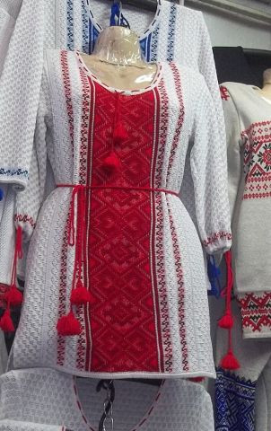 Туніка - вишиванка в'язана р. 42-54