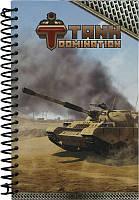 Блокнот А5 (80 листов, картон, спираль) KITE 2015 Tanks 221 (TD15-221K)