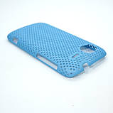 Чехол сетка HTC Sensation light-blue, фото 3