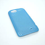 Чехол сетка HTC Sensation light-blue, фото 5