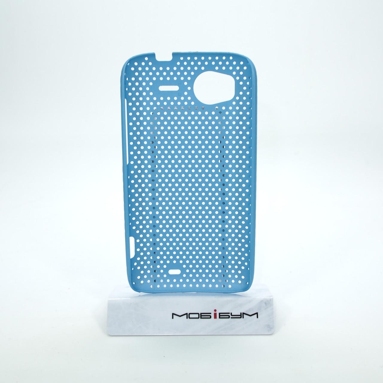 Чехол сетка HTC Sensation light-blue Для телефона