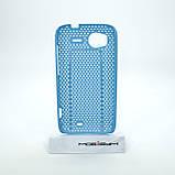 Чехол сетка HTC Sensation light-blue, фото 2