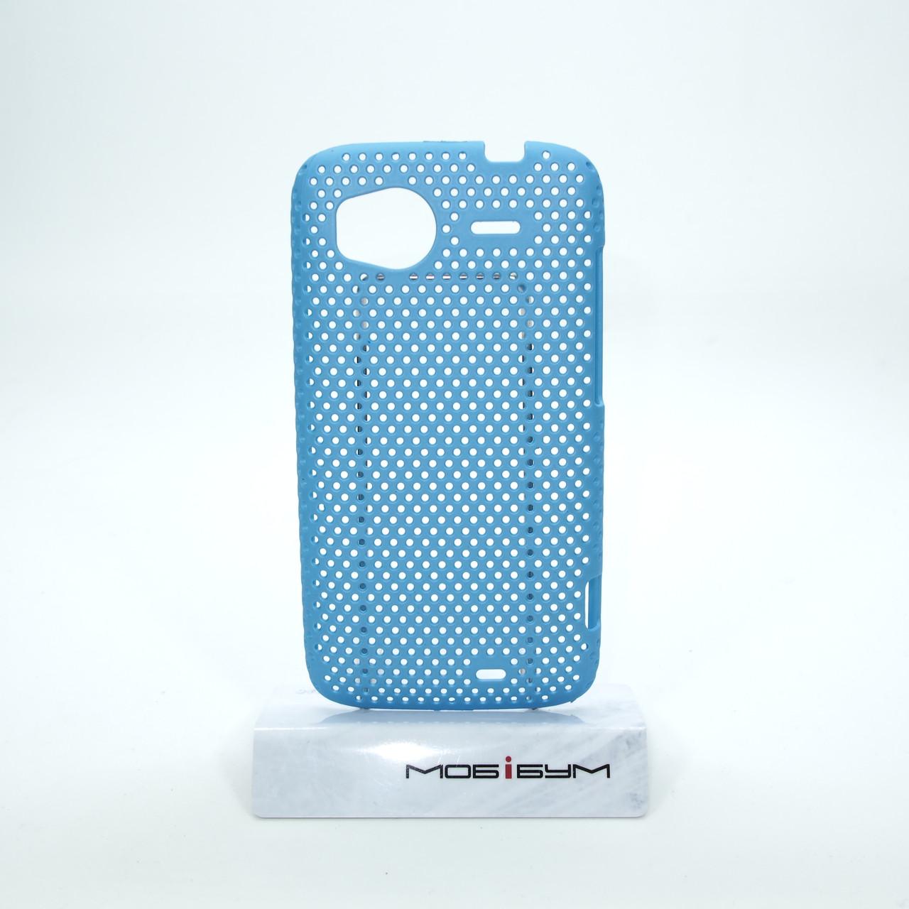 Чехол сетка HTC Sensation light-blue