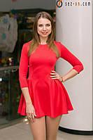 Платье женское короткое Красный