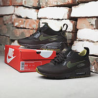 Зимние кроссовки Nike Air Max 90 Mid Winter brown / green, фото 1