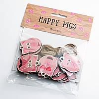 """Набор елочных игрушек """"Happy Pigs"""", фото 1"""