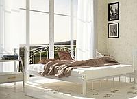 """Кровать металлическая на деревянных ногах """"Афина"""", фото 1"""