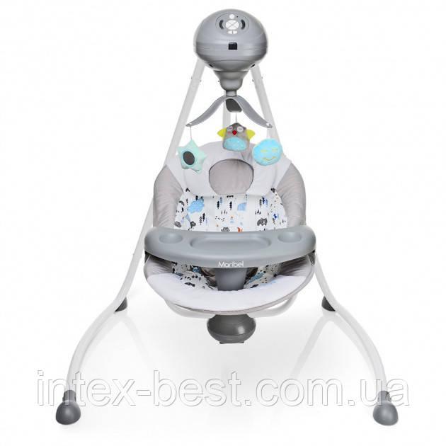 Детские шезлонг-качели Bambi SG301-11-2 (серый)