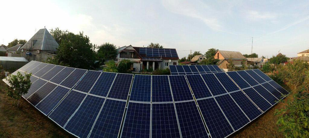 Сетевая солнечная электростанция 29,37 кВт г.Барышевка Киевская область