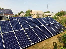 Сетевая солнечная электростанция 29,37 кВт г.Барышевка Киевская область 12