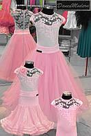 Платье для бальных танцев-бейсик. B.Pink - geo «Chrisanne» и «DSI» (Великобритания)