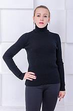 Стильный женский  гольф Лилиан черный (42-50)